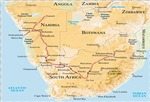 Namibia safari route map