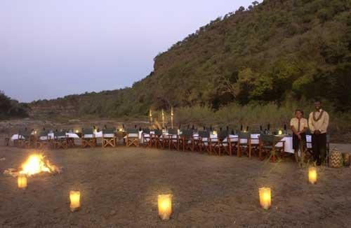 Mkuze Falls Game Lodge -Bush dinner