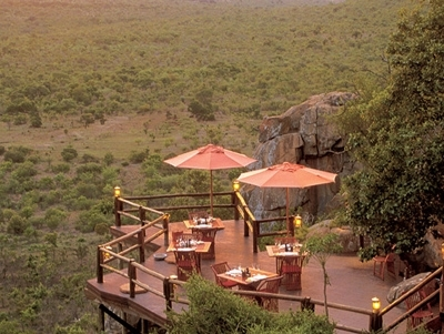 Ulusaba Rock Lodge Dining and viewing Platform