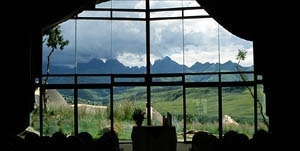 Cathedral Peak - View from the central Lodge
