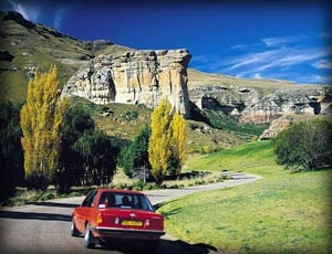 Scenery at Glen Reenen in the Golden Gate Highlands National Park