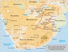 Victoria Falls Journey Map Route