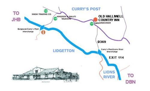 Old Halliwell Country Inn Map