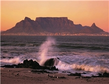 Table Mountain and Beach in Cape Town