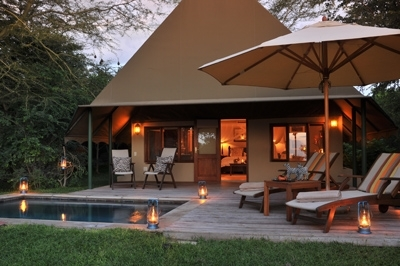 Savanna Tented Safari Lodge Tented Suites from outside