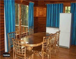 Cape Vidal - Log Cabin Dining room