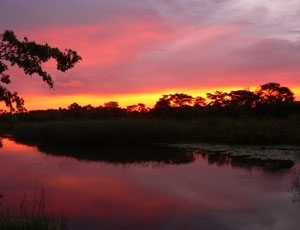 Sunset over the Kavango River