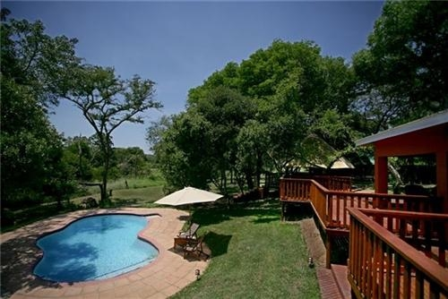 Thula Tented Camp Dining Terrace  Pool