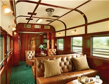 Club lounge on train