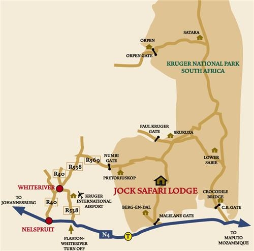 Jock Safari Lodge Map