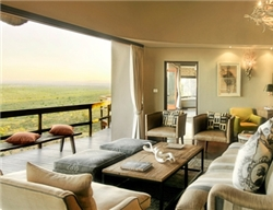 Ulusaba Cliff Lodge Lounge area