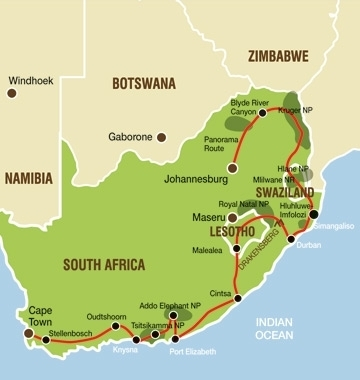 NACJ Route map